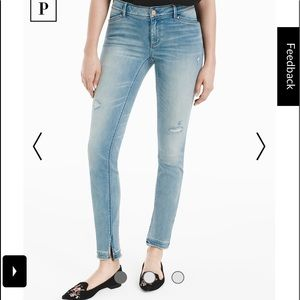 NWT WHBM Distressed Skimmer Jeans